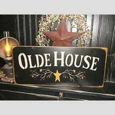 "Wood Sign Countryrustic Home Decor Sign ""olde House"