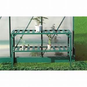 Etagere Pour Serre : etag re aluminium pour serre de jardin 2 niveaux achat ~ Premium-room.com Idées de Décoration