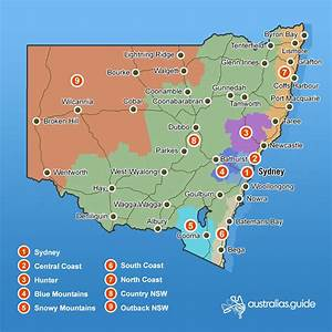 Southern Inland Australia Map