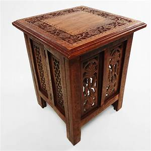 beautiful antique effect hand carved indian wooden table With indian carved coffee table