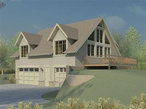 house plans for sloped lots carriage house plans carriage house plan for a sloping