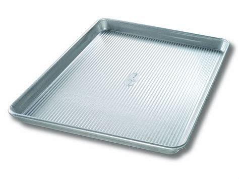 pan sheet usa half baking cookie pans sheets extra steel nonstick roll jelly bakeware warp stick aluminized non resistant inch