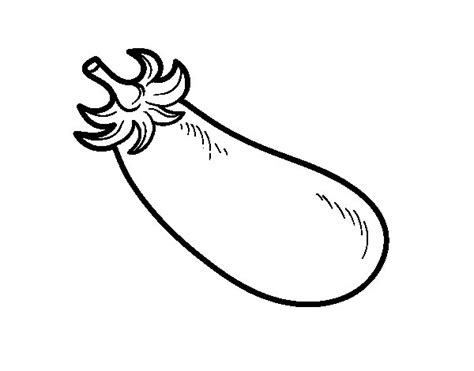 Coloring Eggplant by Organic Eggplant Coloring Page Coloringcrew