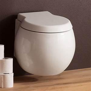 Modern wall mounted white ceramic planet toilet zuri for Wall mount toilet