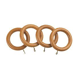 universal wooden mm curtain rings antique pine  pack