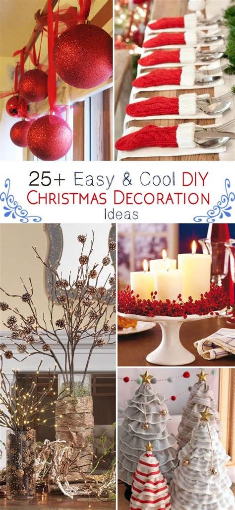 25+ Easy & Cool Diy Christmas Decoration Ideas  Noted List