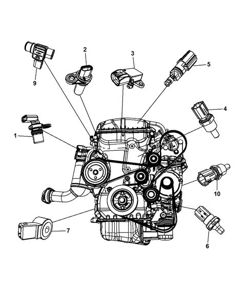 Chrysler Engine Knock Sensor Wiring Diagram by Sensors Engine For 2012 Chrysler 200 Mopar Parts