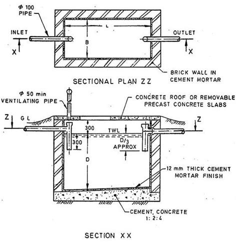typical structural details   septic tank septic tank