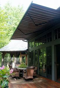 Retractable Awning Wood Patio Covered Awnings And Canopies
