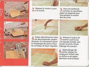 Faire Les Joints De Carrelage : joints carrelage mortier carrelage ~ Dailycaller-alerts.com Idées de Décoration