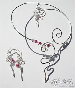 creation bijoux mariage collier avec perles rose fuschia With création bijoux mariage