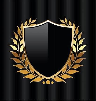 Shield Vector Golden Gold Shapes Clipart Ribbon