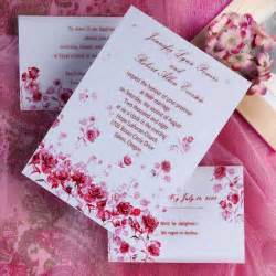 wedding invitations with pictures pink wedding invitations