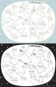 Printable Summer Constellation Map - Mr Printables