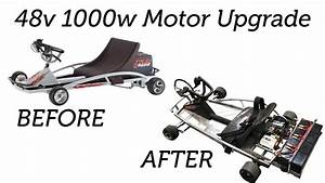 Razor Ground Force Go-kart Upgraded To 48v 1000w Motor