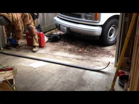 how to keep water out of the garage   YouTube