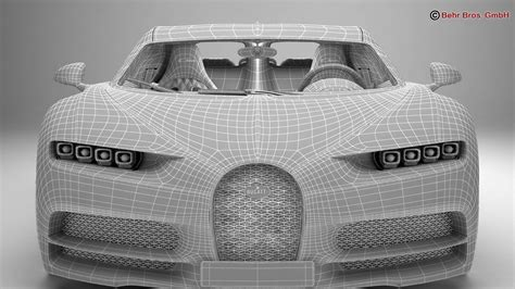 The part in question, an. Bugatti Chiron 2017 3D Model - FlatPyramid