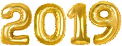 2019 Gold Baloons Png Clip Art Image