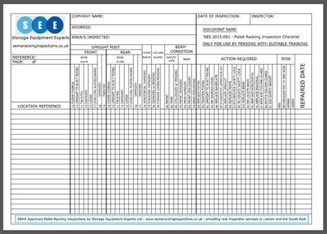 Home Design Checklist : Racking Inspection Checklist