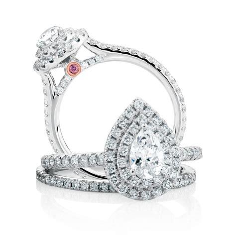 the michael hill designer bridal collection pear cut center stone arpeggio bridal the