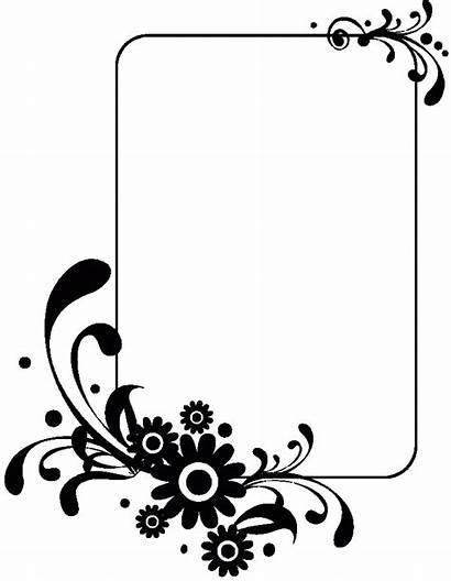 Clipart Clip Frame Flower Frames Simple Designs