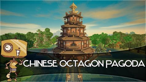 minecraft lets build  chinese octagon pagoda part  youtube