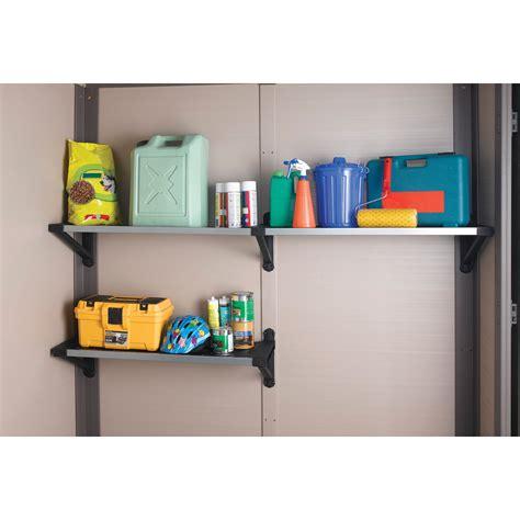 keter shelves for sheds keter tri panel shelf kit at hayneedle