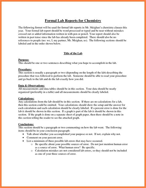 chemistry lab report template 9 chemistry lab report exle marital settlements information