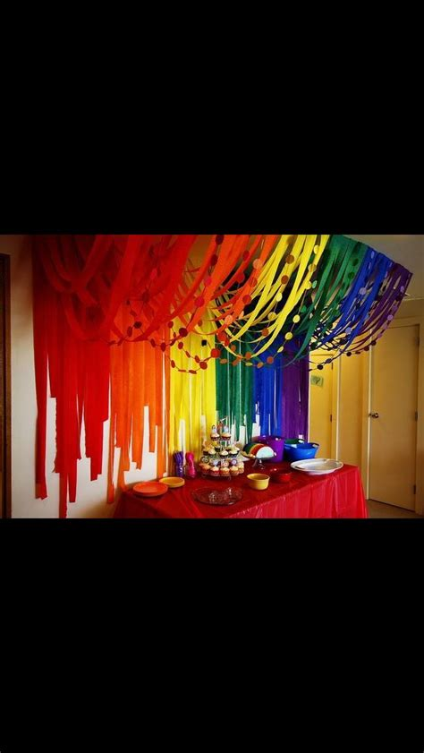 Ideas With Streamers by Looks Great Different Colours Maybe Stage Ideas