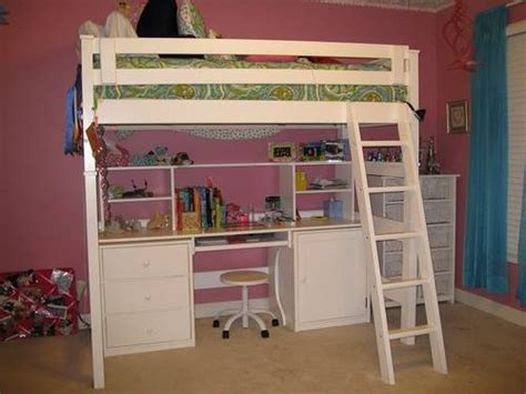 full size bed with desk underneath this is a great solid wood full size loft bed with desk