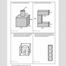 Geometry Worksheet Volume Of Composite Figures By My Geometry World
