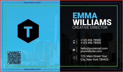 creative agency business card psd freedownloadpsdcom