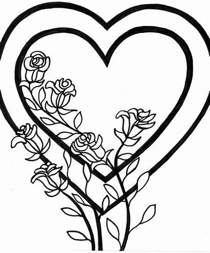 Coloring Heart Pages Printable Popular