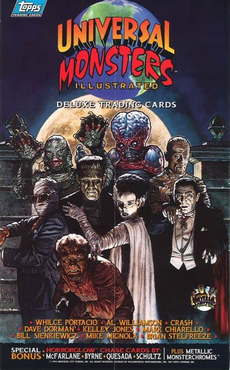 Trading Cards Universal Monsters Illustrated Insert