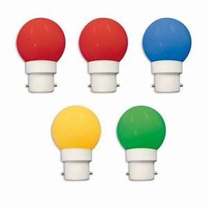 Ampoule Baionnette Led : lot de 5 ampoules led b22 rouge jaune bleue verte ~ Edinachiropracticcenter.com Idées de Décoration