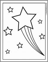 Coloring Star Pages Stars Shooting Pdf Trails Rainbow Colorwithfuzzy sketch template