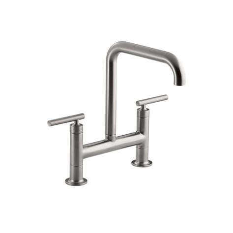 moen waterhill 2 handle high arc side sprayer bridge