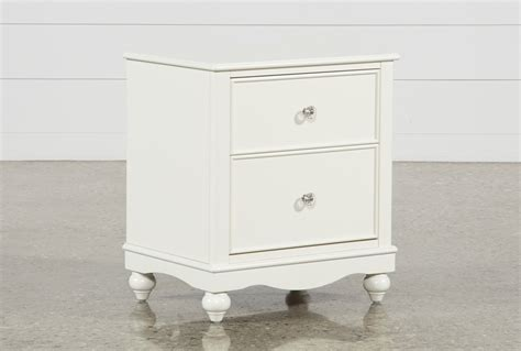 madison white  drawer nightstand living spaces