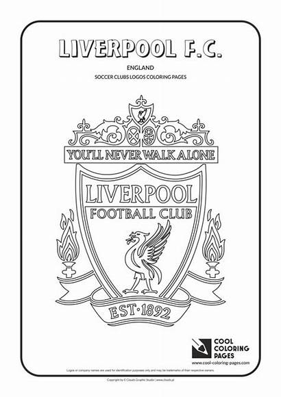 Coloring Pages Liverpool Cool Logos Soccer Colouring