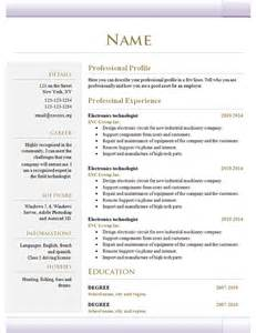 Simple Design Resume by Simple Resume Template 39 Free Sles Exles Format Free Premium Templates