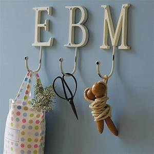vintage style painted letter hook by letteroom With letter hangers