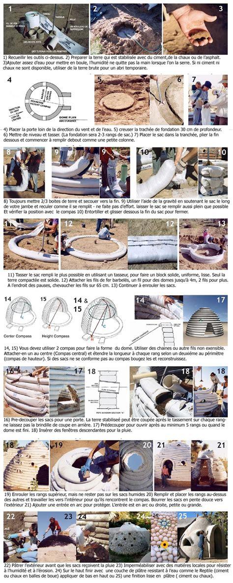 combien de temps pour construire une maison ecodome superadobe la maison en sac de terre with