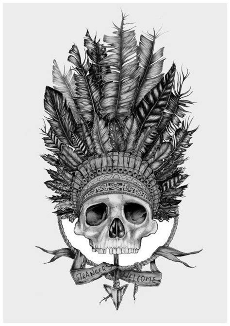 Pin by Brittany Burke on Tattoos   Indian skull tattoos, Skull tattoos, American tattoos