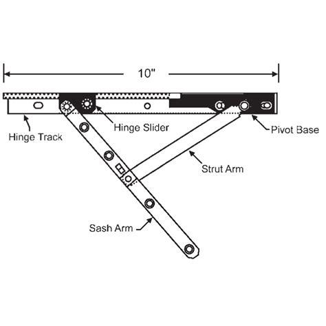 roto casement hinge arm track set