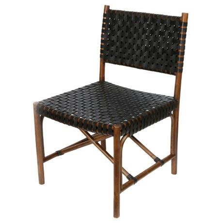 tropical leather weave dining chair furniture