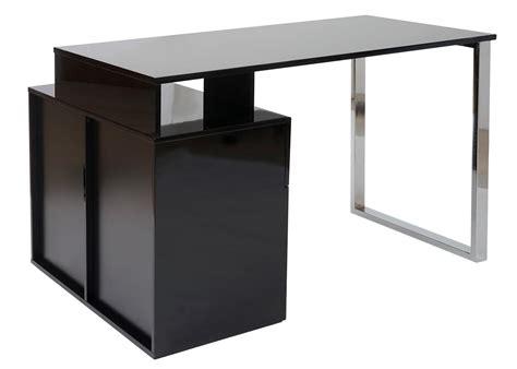 scrivania di design scrivania di design katrin in legno e acciaio cromato in