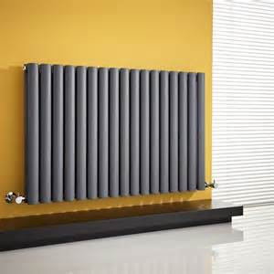 designer radiators aruba anthracite horizontal designer radiator 635mm x 1000mm panel