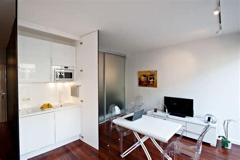 cache cuisine coin cuisine caché dans un studio contemporain cuisine par fables de murs