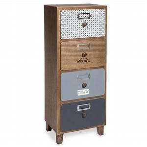 Maison Du Monde Petit Meuble : petit meuble de rangement 4 tiroirs imprim s ferret ~ Dailycaller-alerts.com Idées de Décoration