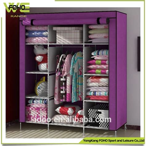 cn popular cloth diy style metal closets large increase